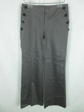 Ann Taylor LOFT NEW Petite Women sz 2P Curvy Side Buttons Gray Wide Leg Pants