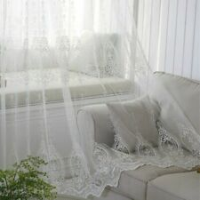 Baroque Embroidery Curtains Fabric Pelmets Lace Tulle Voile Panel Adorn Divider