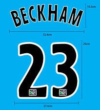 BECKHAM #23 LA GALAXY Home 2007-08 PU SOCCER FOOTBALL NAME NUMBERING PRINT