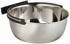 MidWest Homes for Pets Snap'y Fit Stainless Steel Food Bowl / Pet Bowl, 2 qt. &