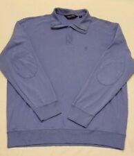 Polo Ralph Lauren Men Long Sleeve PIMA SOFT TOUCH Baby Blue Golf Pony Shirt XL