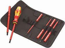Wera Tool Screwdriver Insulated Electrician Interchangeable Set KK VDE 60 7 Pc