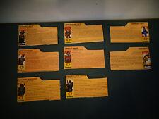 VINTAGE GI JOE FILE CARD LOT OF 8
