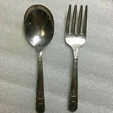 Wm A Rogers Oneida Ltd Child's spoon & fork - silverplate