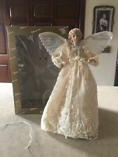 Lighted Angel Christmas Tree Topper Decoration 13 Inch Original Box by Roman Inc