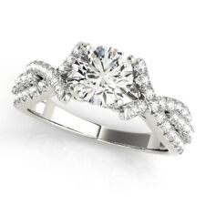 Diamond Solitaire Engagement Ring Size 6 7 14 K White Gold 1.00 Ct Real Delicate