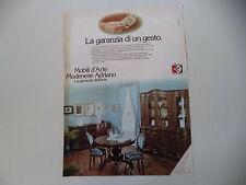 advertising Pubblicità 1977 MOBILI D'ARTE MODENESE ADRIANO - CASALEONE