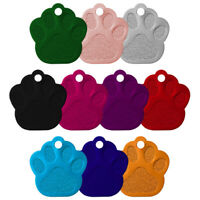 PAW PRINT ALLOY DOG ID NAME TAG DISC PERSONALISED ENGRAVED PET IDENTITY TAGS