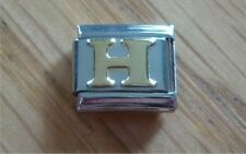 Italian Charms Charm - Gold Letters   Letter H