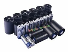16x AA Rechargeable Battery + 8x C Size + 8x D Size Battery Adapter Converter