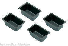 Kitchen Craft Pack Of 4 Non Stick Mini 'Penny Loaf' Bread Baking Tins