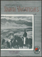 1940s Northern Pacific RANCH VACATIONS Booklet