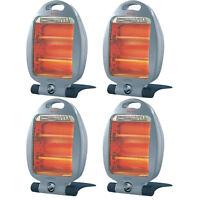 800W 2 bar portable electric heater quartz halogen home office work 2 settings