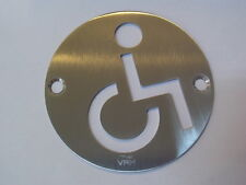 Disabled sing symbol  - door sign Stainless steel