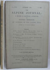 1894 ALPINE JOURNAL 125 A RECORD OF MOUNTAIN ADVENTURE  & SCIENTIFIC OBSERVATION