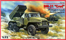 BM-21 GRAD ROCKET LAUNCHER (SOVIET, GERMAN, POLISH, UKRAINIAN MKGS) 1/72 ICM