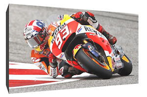 Marc Marquez bank canvas wall art Wood Framed Ready to Hang XXL