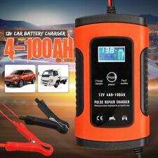12V 6A Caricabatteria Auto Mantenitore Carica Batteria LCD 4-100AH Impulso @