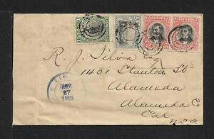 COSTA RICA TO USA COVER 1903 LIMON