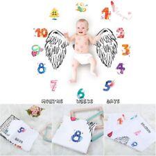 Photo Prop Newborn Baby Blanket Flowers Numbers Angel Wing Printed Photography