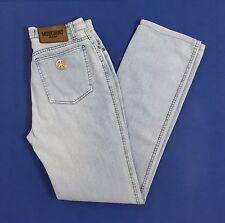 Moschino jeans donna w28 tg 42 slim gamba dritta dritti boyfriend vintage T1149