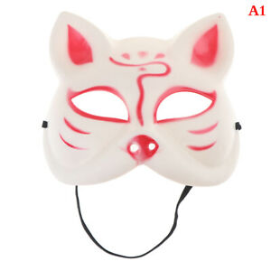 The nine-tailed Fox Mask Pulp Half Face Halloween Cosplay Animal Parng