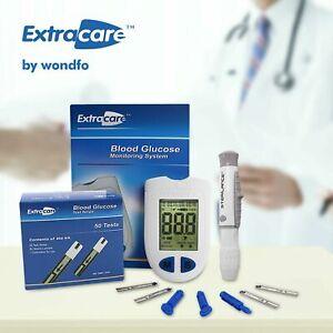 Extracare Blood Sugar Meter Glucose Monitor Test Strips Lance Diabetic Start Kit
