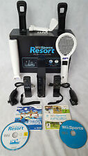 Boxed Black Wii Console Bundle Starter Set - 2 Remotes -17 Games =Sports +Resort
