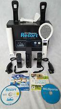 Paquete de Consola Negro en Caja Wii Starter Set - 2 mandos a distancia -17 Juegos = Sports + Resort