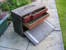 More details for wooden engineers toolbox / chest.  (09688)