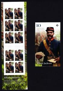 Canada 2019 Black History-Albert Jackson, MNH booklet of 10 P stamps