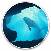 2 x Vinyl Stickers 15cm - Whale Ocean Cave Sea Diving Cool Gift #2237
