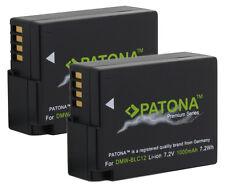 2 x Patona Premium Akku für Panasonic Lumix DMC-FZ200, DMC-FZ1000 - DMW-BLC12-E