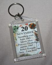 November 20 Birthday Key Chain Acrylic Keychain