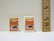 Fashion Doll Size #2 Miniature Kitty Cat Toy Cat Food Plastic Lot 1/6 Scale