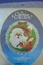 Vtg Paragon Holiday Cheer Dimensional Applique Hoop Kit Christmas Santa Reindeer