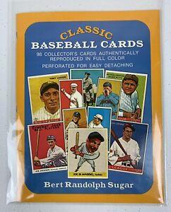 1977 Classic Baseball Cards Book Bert Randolph Sugar Perforated Cards Mint