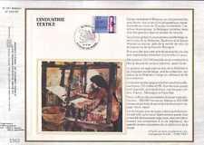 Feuillet CEF Belgique n°367 L'industrie textile cachet 22-10-83  Bruxelles