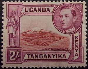 Kenya, Uganda and Tanganyika 1938-44, 2s.lake & purple (SG146b) mh