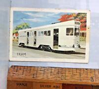 VINTAGE 1960s BCC ELECTRIC TRAM BRISBANE AUSTRALIA TRADING CARD VGC!!!