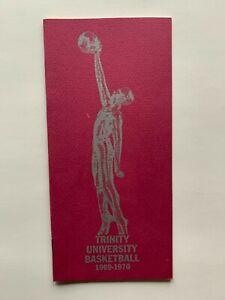 1968-70 Trinity University men's basketball media guide.  NCAA