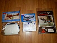 Vintage Lot of 3 model kits Tempest LAGG3 Hawker Typhoon 1B F389 plane 1/72