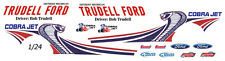TRUDELL Ford 2013  MUSTANG COBRA JET NHRA    1/25th - 1/24th Scale Decals
