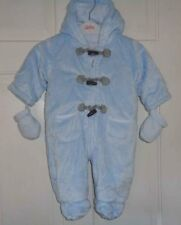 George Boys Blue  Pramsuit Snowsuit - 3-6 Months
