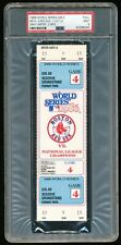 1986 WS Game 4 Full Ticket PSA 9 Mint New York Mets vs Red Sox Fenway Park