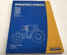 2008  NEW HOLLAND  T4020 T4030 T4040 T4050 Supersteer  TRACTOR Operators Manual