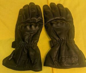 Bilt Motorcycle Leather Gloves Waterproof Knuckle Guards Men's Size M