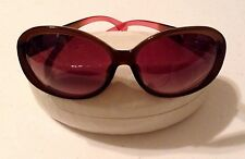 COACH Gracie S6011 Sunglasses - Brown Frame W/Heart Cutouts/Brown Lens/Case