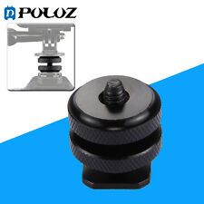 Puluz Reinforced Hot Shoe 1/4 inch Screw Adapter with Double Nut for GoPro