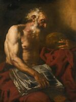 """perfect 24x36 oil painting handpainted on canvas""""Saint Jerome """"@11174"""
